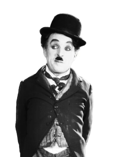 The portrait of Charlie Chaplin
